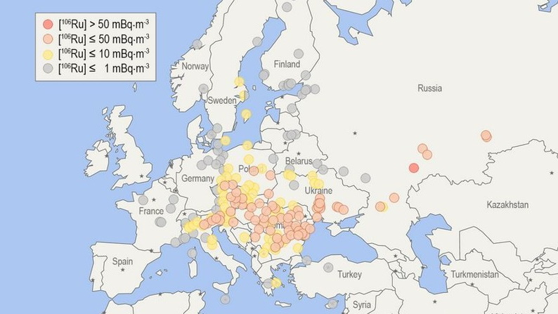 Mysterious spike in radioactivity over Europe 'came from Russia'