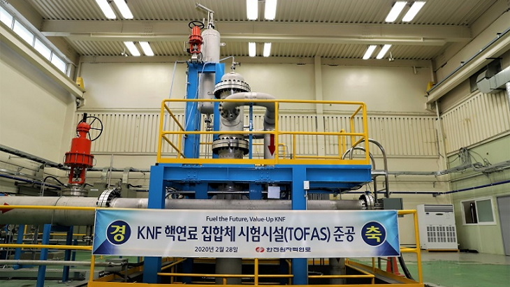 Korean nuclear fuel assembly test facility opens