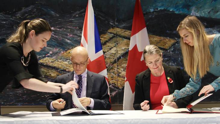 UK, Canada sign Nuclear Cooperation Agreement