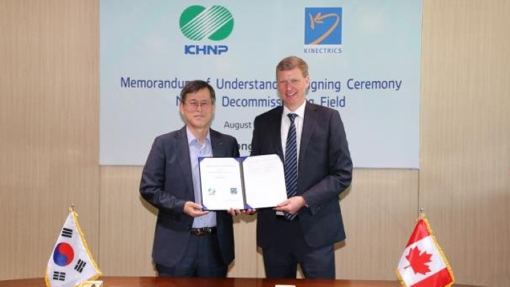 KHNP to support Canadian decommissioning projects