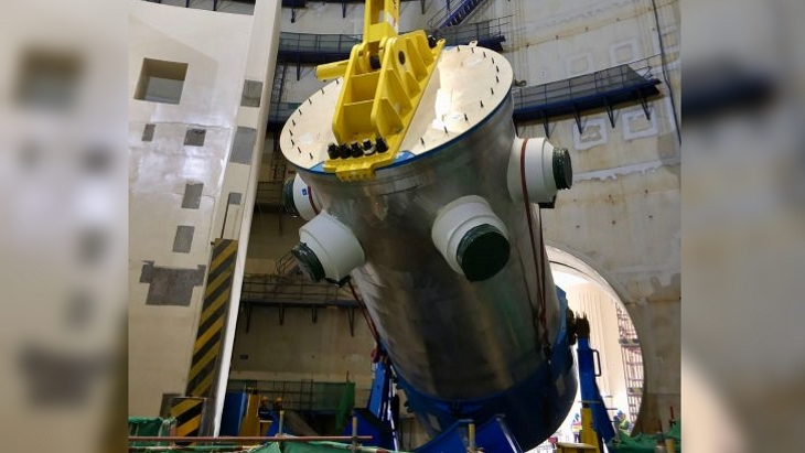 Fuqing 6 reactor pressure vessel in place