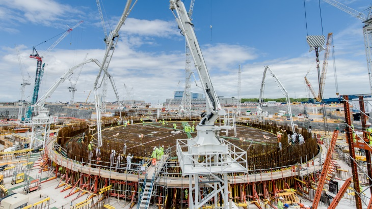 EDF says completes first base of Hinkley Point C nuclear plant