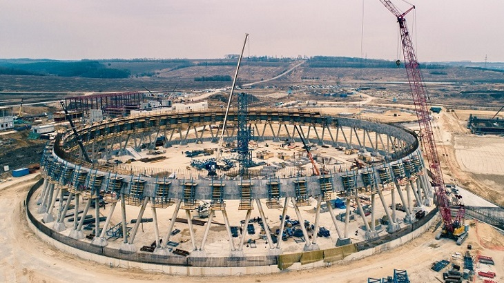 Russia's tallest cooling tower enters next construction phase