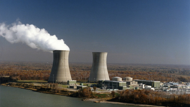 Dva bloky jaderné elektrárny Perry v roce 2017, kdy oslavily 30 let od zahájení provozu, jeden z výrobních zdrojů bezuhlíkové elektřiny pro Energy Harbor. Zdroj: FirstEnergy
