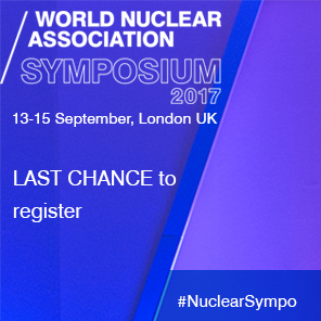 World Nuclear Association Symp[osium 2017 - Last chance to register