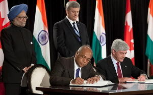 India-Canada cooperation agreement signing (Image: Office of the Prime Minister)