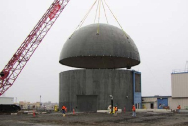 Building 309 dome lift, January 2011