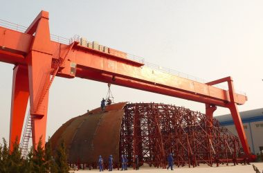 AP1000 containment vessel under construction at Shandong