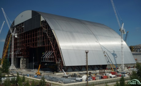 Chernobyl - joining of the western and eastern parts of the arch - 460 (ChNPP)