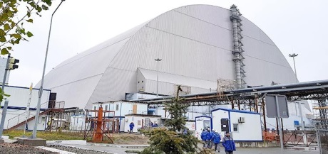 Chernobyl Confinement Structure Nears Completion World Nuclear News