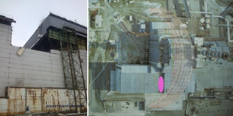Chernobyl roof collapse, 12 February 2013 (SNRC) 460x229