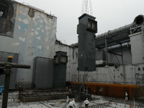 Fukushima unit 4 cover supports installed 460