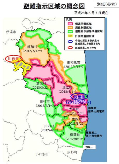 Fukushima zones May 2013 (METI)