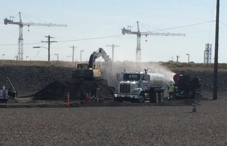 Workers building road to reach Hanford tunnel