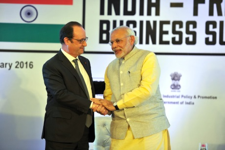 Hollande-Modi January 2016 - 460 (Indian PMO)