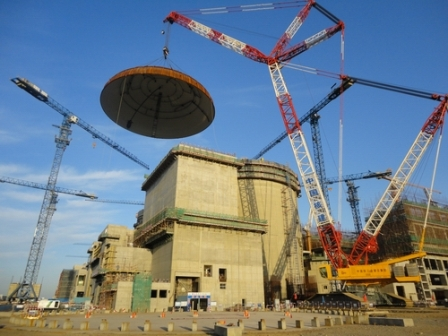 Hongyanhe 4 dome lifting