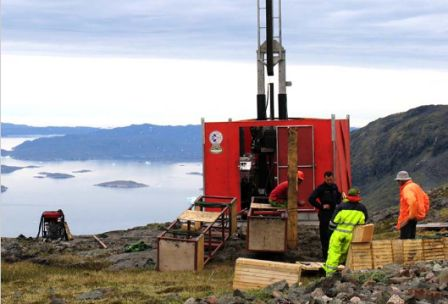 Drilling at Kvanefjeld (Greenland Minerals)